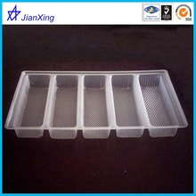 Compartment plastic biscuits tray