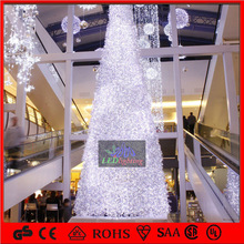 supermarket/Shopping mall Christmas decoration 10M/12M white artificial 3d ball tree