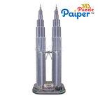 Petronas twin towers of souvenir paper custom 3d puzzle
