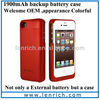 LPB108 wallet battery case for iphone 4 4s, wholesale quality guaranteed battery cases for iphone4s power bank emergency