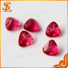 Wuzhou grade AAA synthetic glass fat triangle loose gemstone