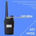 Radio portátil con dtmf ctcss/dcs juston 245 a31 mhz