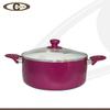Hot product colorful aluminium casserole soup pot