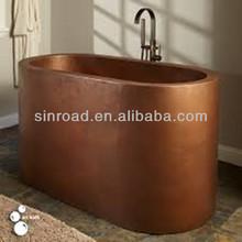 tin finish copper bathtub