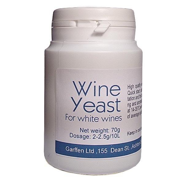 النبيذ الخميرة 70gr للنبيذ أبيض