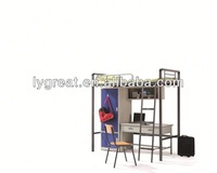 Foshan famous furniture wood and wrought iron beds