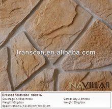 Parede exterior pedra decoração