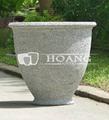 Contemporânea plantadores de concreto, cimento branco estátua