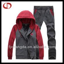 Latest design men cotton winter tracksuit