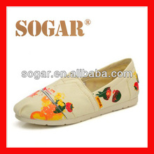 2015 new model canvas shoes for women hot sale