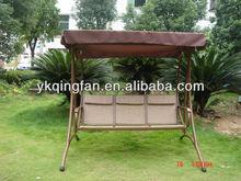 3 seats garden metal swing QF-6306