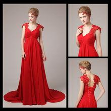 8099 Red Evening Dress Elegant full Figure Evening Dresses For Pregnant Women