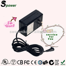 High Efficiency 12V/2A Plug-in switching power adapter for CCTV LED