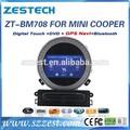zestechบลูทูธทีวี7นิ้วสำหรับbmwminicooperรถเครื่องเล่นดีวีดี
