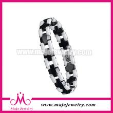 2014 magnet black cross ceramic link bracelet buy china jewelry