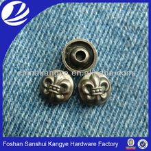 brand name zinc alloy garment rivet ,color metal rivet for jeans R-376