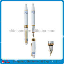 Simple atmospheric ceramic whiteware fountain pen