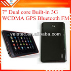 7 inch tablet pc with 3g mobile phone function dual sim tablet 8GB ROM gps wifi bluetooth