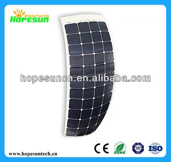 High effiency 130w Frameless sunpower cells panel solar flexible pv module
