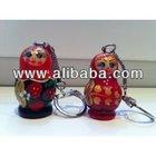 Russian key chain wooden nesting dolls matryoschka wholesale