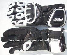 Top quality genuine cow hide leather custom made motorbike racing gloves , 2015