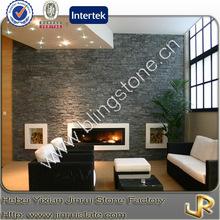 Decorative grey slate stacked stone siding