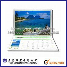 2014 factory wholesale desk calendar in Dongguan