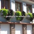 Cerca de colgar maceta verde, balcón de plástico plantadores de flor, plantador de terraza de ambientalización