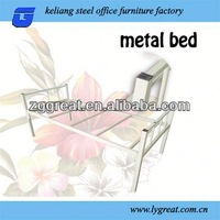 Assembly simple iron metal bed frames for labor camps