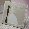 Argent festonné w7045 carte d'invitation de mariage
