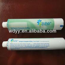 toothpaste packaging aluminium tube