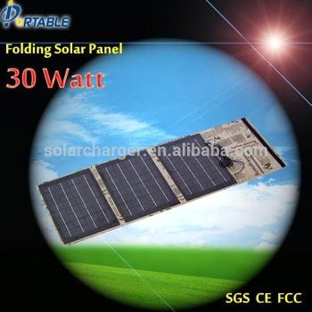 Jane 23% High efficiency solar panel / 30W Folding solar charging bag / folding solar energy bag for laptop