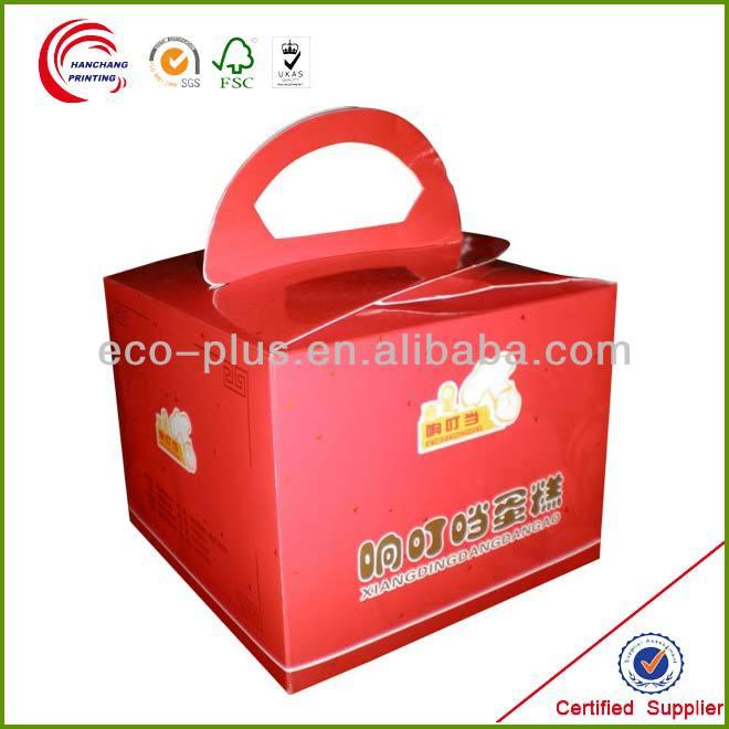 wholesale custom cheap clear recycled kraft single mini cardboard paper packaging cupcake box