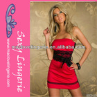 ML17934 2014 Latest Waist Lace Trimmed Red Tube Sex Women Party Dress Wholesale