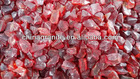 decorative red glass rocks for landscaping