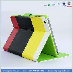 For iPad mini smart cover, leather smart case for ipad mini