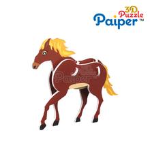 DIY animals paper model 3d puzzle horse toys