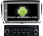 Android system Car dvd for Peugeot 208 with GPS,Bluetooth,PIP,Games,Dual Zone,Steering Wheel Control