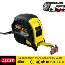 MID blade 5m measuring tape ASSIST brand two stops contractor rubber tape measure