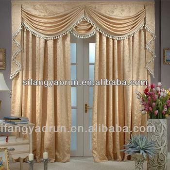 2014 new beautiful oriental ready made curtain panels