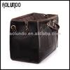 high quality genuine leather duffle travel bag for men/doctor bag men