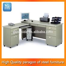 High end modern style metal frame executive office computer desks