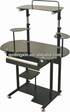 Hot sale modern glass computer table pictures [DX-8879]