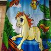 100% cotton reactive printed horse beach children towel
