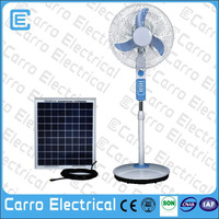parts electric stand fan/16inch 12V rechargeable solar fan