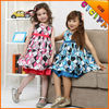 Princess girl's dresses in stock summer designs party dress sleeveless little girls frocks dress