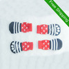 Fashion Dog Socks Pet Cat Stripe UK Flag 4 pcs/set Cotton Material Mix Design Red Black White Factory Produce Fast Shipping