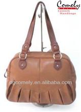Comely handbag 2015 ladies bags images brown small zip tote bag leather handbag