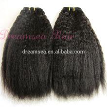 Virgin Malaysian Human Hair Afro Kinky Straight Hair Weave