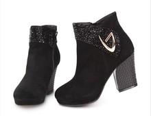 high heels sexy cheap waterproof snow boots women